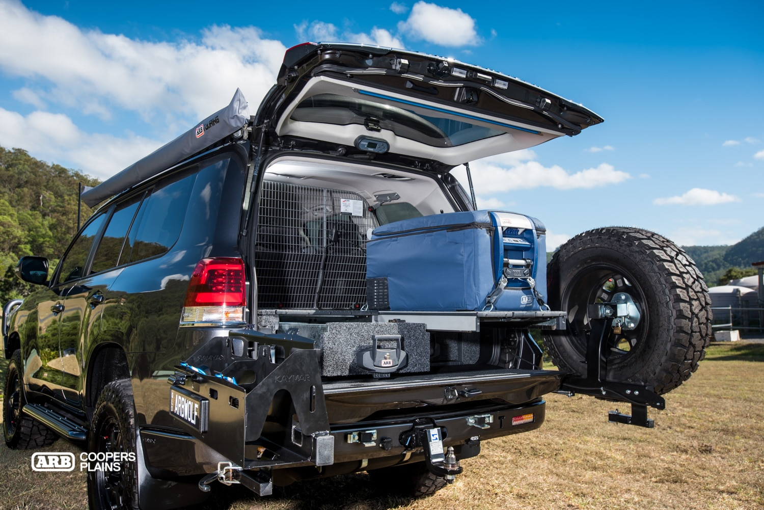 Feature Grey Wolf 200 Series Landcruiser Arb Coopers Plains Toyota Land Cruiser Moving To The Back Of Car There Is Something Special Hidden Away Underneath Outback Drawer System And Cargo Barrier A Kaizen Compressor Bracket